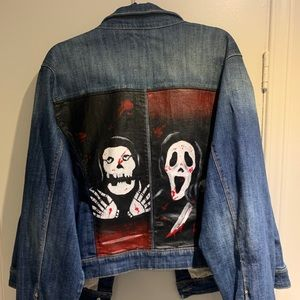 Hand Painted Punk Jean Jacket